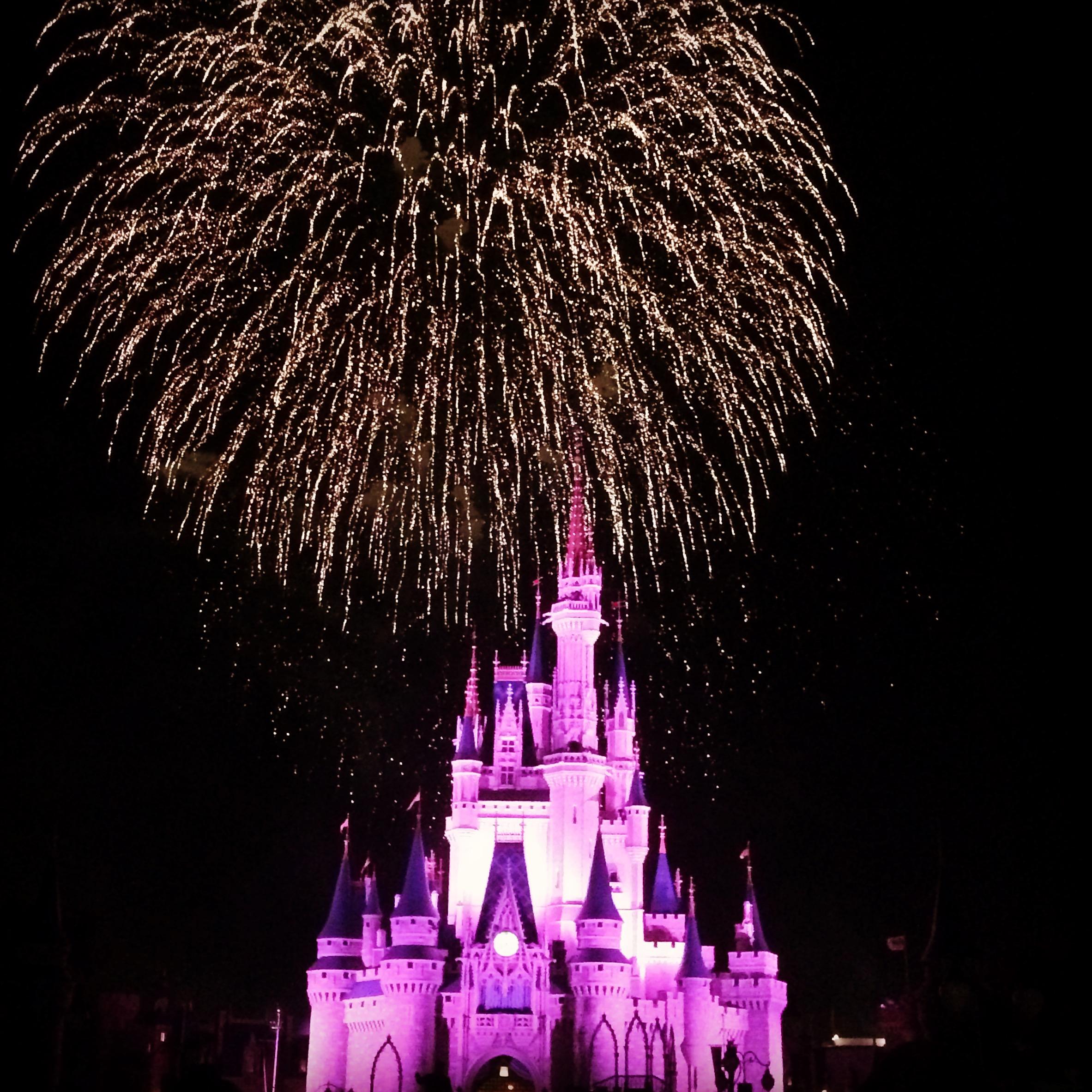 Night time firework, Magic Kingdom